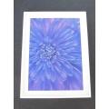 Purple Dahlia Print White Frame