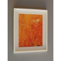 Orange Abstract Print White Frame