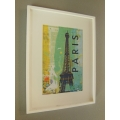Paris Eiffel Tower Print White Frame