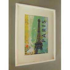 Paris Eiffel Tower Print White Frame