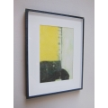Black Framed Yellow IV Abstract Print