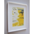 White Framed Yellow VI Abstract Print