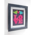 LOVE Birds Print Thick Black Frame