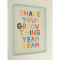 Shake Your Groove Print Blue Frame