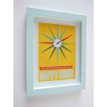 Happy Hour Print Thick Blue Frame