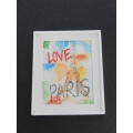 Small Love Paris Print White Frame