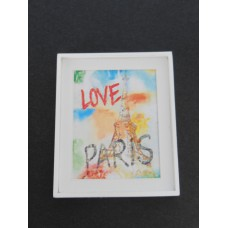 Small Love Paris Print White Frame
