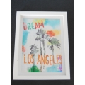 X-Large Dream LA Print Thick White Frame