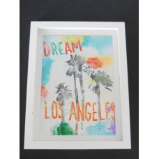 X-Large Dream LA Print Thick White Frame