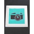 Camera Print White Frame