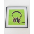 Headphones Print Black Frame