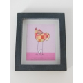 Baby Girl Birds Print Thick Black Frame