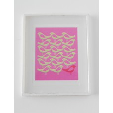 Flock of Birds Print White Frame