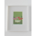 Bird Nest Print White Frame