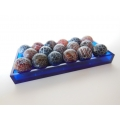 Blue Rectangle Lucite Tray with Decorative Orbs