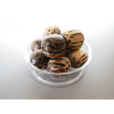 Clear Round Lucite Tray with Decorative Orbs