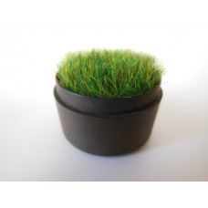 Tall Round Rusted Tray with Wheat Grass