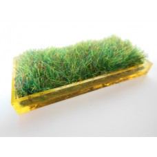 Yellow Rectangle Lucite Tray with Wheat Grass