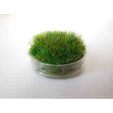 Clear Round Lucite Tray with Wheat Grass