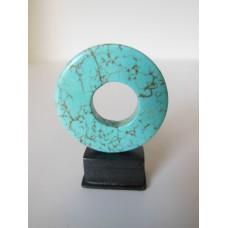 Turquoise Ring on Black Base