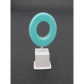 Turquoise Small Oblong Ring on White Base