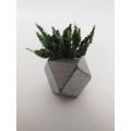 Silver Hex Vase