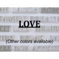 """Love"" Word Art"