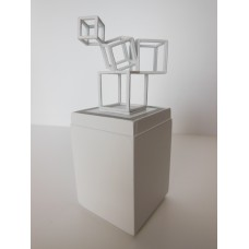 Lighted Cube Base with Sculpture