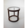 Ring Side Table in Rust