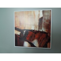 Abstract Print with White Frame