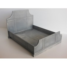 Cortina Bed in Aged Silver