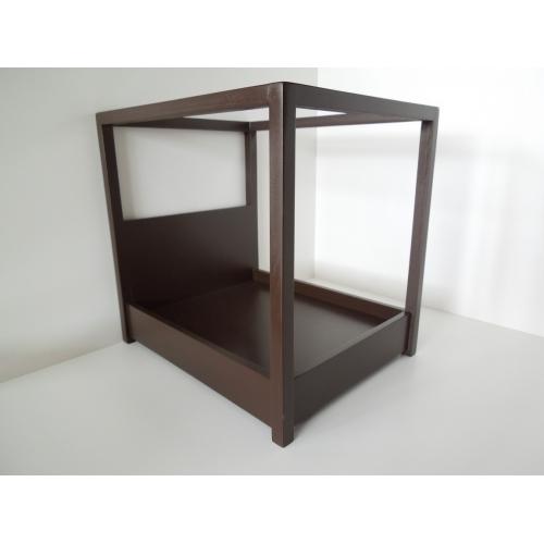 Devon Canopy Bed in Espresso  sc 1 st  PRD Miniatures & Modern Dollhouse Furniture | M112 PODS | Devon Canopy Bed in ...