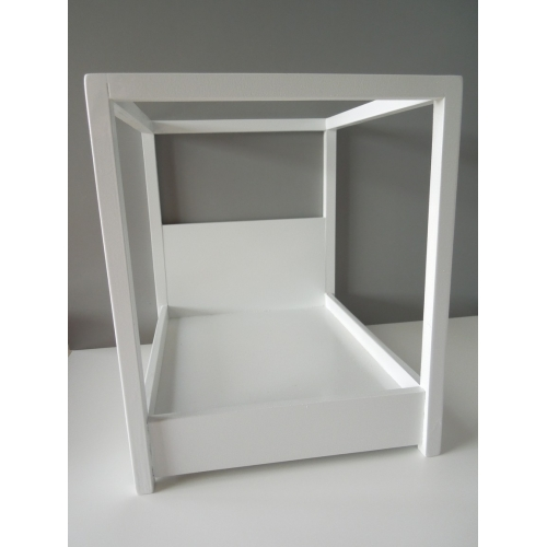 White Canopy Bed modern dollhouse furniture   m112 pods   devon canopy bed in white