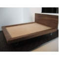 Walnut V Leg Bed