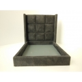 York Upholstered Bed in Gray Micro Suede