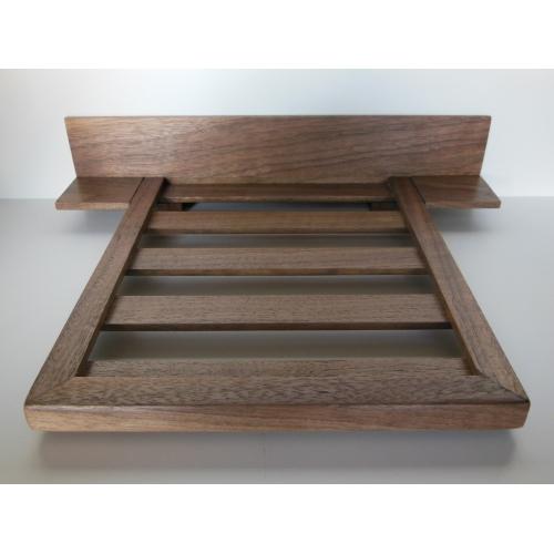 Walnut Platform Bed With Headboard And Nightstands