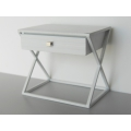 Humphrey Nightstand in White/White