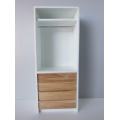Arvo Narrow Wardrobe with 4 Drawers