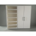 Dakota Wardrobe Unit with 2 Doors and Shelving in White
