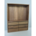 Paloma Walnut Open Wardrobe Unit with Drawers