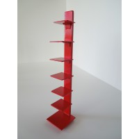 Tower Bookcase in Red