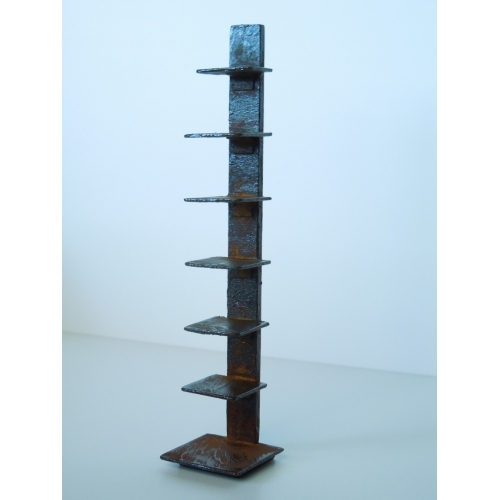 Tower Bookcase in Rust - Modern Dollhouse Furniture M112 PODS Tower Bookcase In Rust By