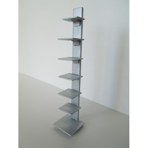 Tower Bookcase in Silver - Modern Dollhouse Furniture M112 PODS Tower Bookcase In Silver