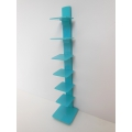 Tower Bookcase in Turquoise Blue