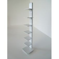 Tower Bookcase in White