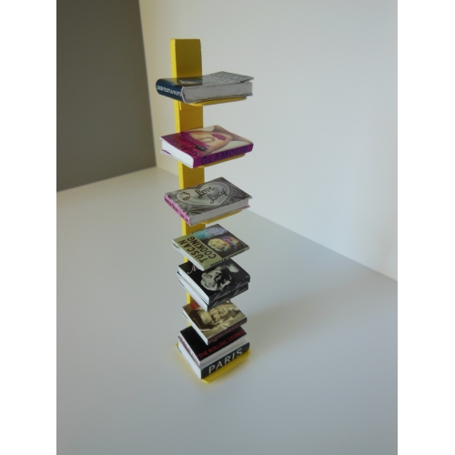 Tower Bookcase in Yellow - Modern Dollhouse Furniture M112 PODS Tower Bookcase In Yellow
