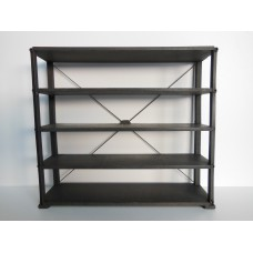 Paxton 5 Tier Shelving Unit in Natural Steel Finish