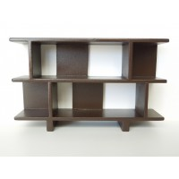 Vendi 2 Tier Bookcase in Espresso