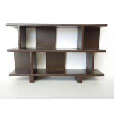 Vendi 2 Tier Bookcase in Espresso