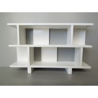 Vendi 2 Tier Bookcase in White